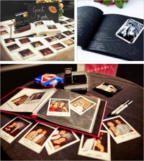 Get guests to sign a polaroid of themselves with either the message at the back or in a book.